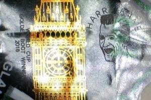 케인의 골든부트 새긴 5파운드 지폐 유통, 몇만 파운드까지 치솟을까