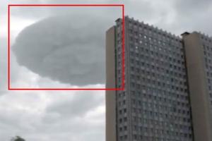 모스크바에 나타난 UFO 모양의 접시 구름
