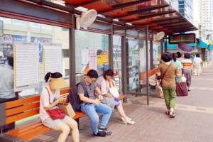 [포토] 버스승강장에 설치된 선풍기