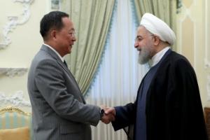 """北리용호 만난 이란 대통령 """"미국 믿을 수 없다"""""""