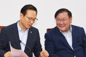 [서울포토]홍영표 더불어민주당 원내대표 북한산 석탄반입 논란 언급
