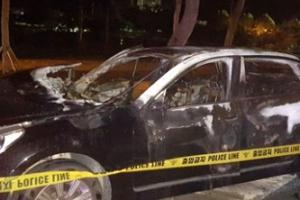 """에쿠스 화재 목격자 """"서행 중에 불이 났다""""…1명 사망"""