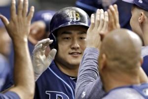[포토] '시즌 4호 홈런' 쏘아올린 탬파베이 최지만