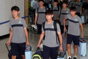 [포토] 평양으로 향하는 유소년축구대회 참가 선수단