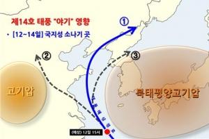 [날씨] 제14호 태풍 '야기' 진로 어떻게 될까…고민에 빠진 기상청