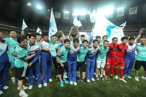 11일 상암벌을 달군 '남북 노동자 통일축구대회'