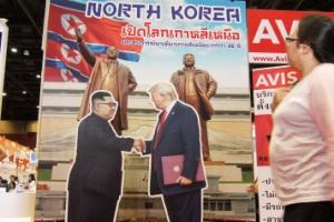 [포토] 태국 관광박람회에 '북한 여행' 상품 등장