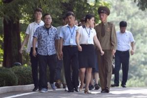 [포토] 판문점 관람온 북한 관광객들