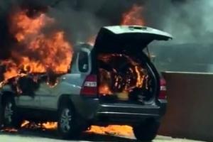 [포토] '또…서해안고속도로서 스포티지 화재'