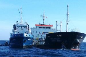제주 우도 해상에서 대형 화물선끼리 충돌…기름 유출