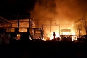 경기도 광주 건축자재 공장서 불, 건물 5개동 불타