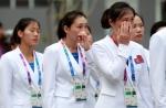 북한 아시안게임 입촌식……