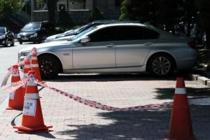 [포토] '안전을 위해'… BMW 차량 통제 시작한 정부청사