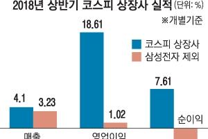 코스피 상장사 순익, 삼성전자 빼면 6.63% 후퇴