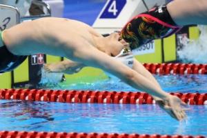 [포토] 배영 100m '동메달'…이주호 '힘찬 출발'