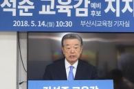 부산교육계 원로, 김석준 부산시교육감 후보 지