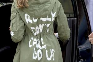 멜라니아 '재킷' 논란…아동격리시설 가면서『난 상관안해』문구