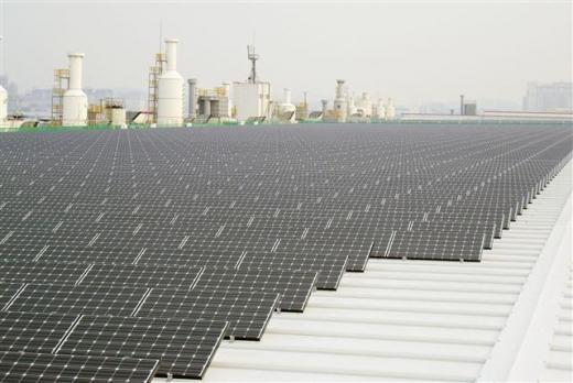 LG전자는 구미3공장과 오창1공장의 3㎿급 태양광 발전소에 모듈을 공급했다.  LG전자 제공
