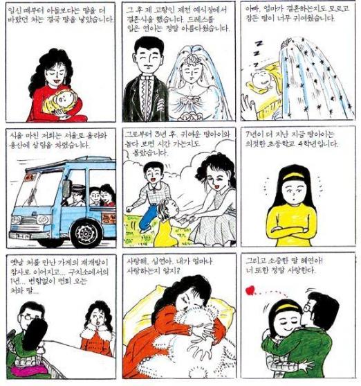 용산참사 생존자인 김재호씨가 수감 중 딸 혜연양에게 보낸 만화 편지 중 일부. 서해문집 제공