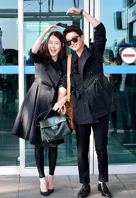 소이현 인교진 신혼여행 공항패션