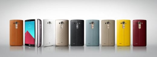 LG G4 출시 LG전자가 29일 서울을 비롯한 6개국 주요 도시에서 전략 스마트폰 G4를 공개하고 국내에서 처음으로 판매를 개시했다. 총 6개 색상의 천연가죽 커버를 적용한 제품과 '3D 패턴' 후면 디자인을 적용한 플라스틱 후면 커버 3종을 글로벌 시장에 출시한다.  LG전자 제공