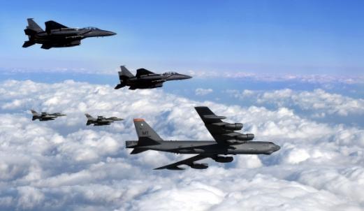 B-52 폭격기. 공군제공
