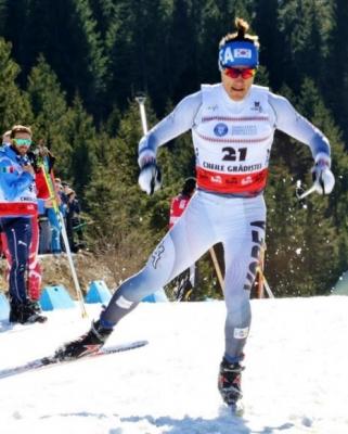 김마그너스가 22일(현지시간) 루마니아 르슈노브에서 열린 2016 국제스키연맹(FIS) 노르딕 주니어 세계선수권대회 남자 1.3㎞ 스프린트 프리 종목에서 결승선을 향해 힘차게 질주하고 있다. 대한스키연맹 제공