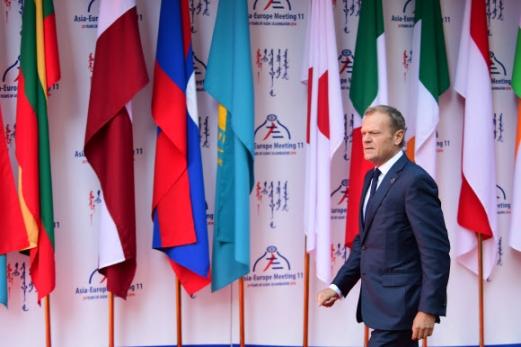 도날트 투스크 EU 정상회의 상임의장 도날트 투스크 EU 정상회의 상임의장이 15일 오전 몽골 울란바토르에서 열린 제11차 아시아?유럽 정상회의(ASEM)에 참석, 행사장으로 이동하고 있다. 연합뉴스