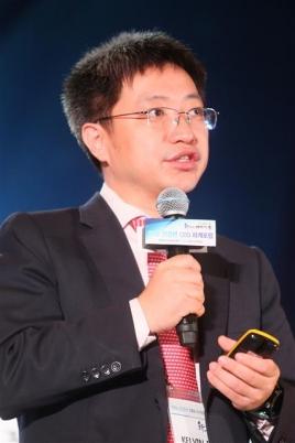 켈빈 딩 한국화웨이 대표가 28일 전경련 CEO 하계포럼에서 강연하고 있다. 전국경제인연합회 제공