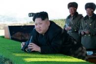 미사일 발사 대신 포병훈련 감행한 김정은