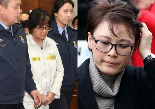 최순실씨와 윤전추 청와대 행정관 연합뉴스