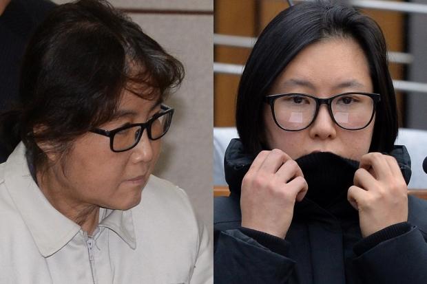 최순실과 조카 장시호.  서울신문