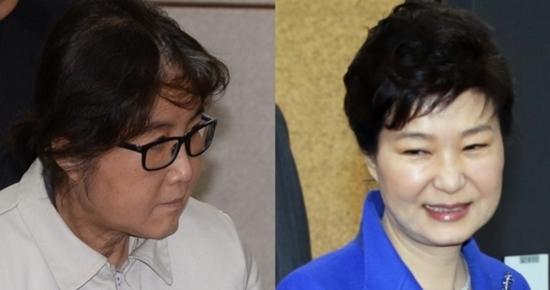 최순실(왼쪽)씨와 박근혜 전 대통령 서울신문DB