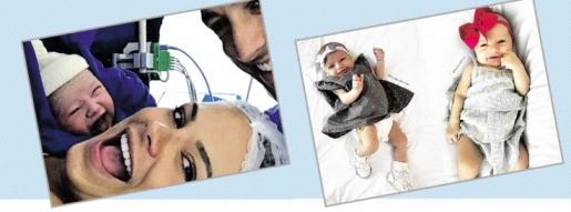 엄마, 아빠와 함께 활짝 웃고 있는 아기 카르멜의 모습. 타이지 드 마리·인스타그램