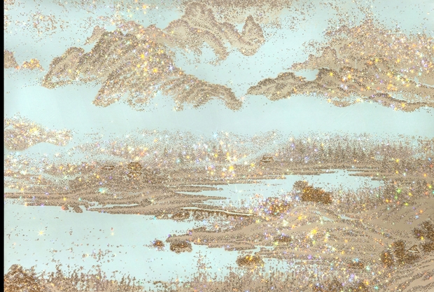김종숙 작, ARTIFICIAL LANDSCAPE-Golden Picture, 2014
