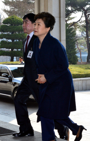 [박근혜 소환] 박근혜 전 대통령, 검찰 도착