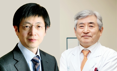 김진수(왼쪽) 기초과학연구원 유전체교정연구단장과 한덕종 서울아산병원 교수