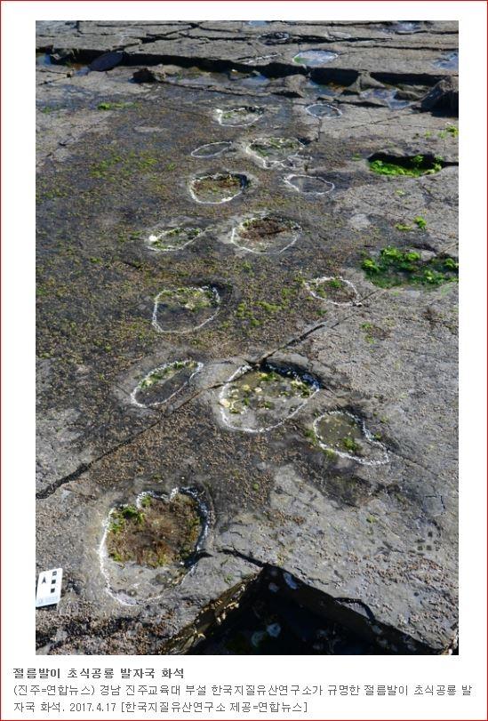 경남 고성 덕명리 공룡 발자국 화석