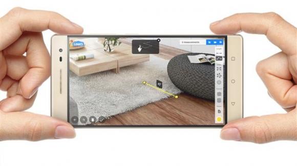 구글 AR 플랫폼 '탱고'를 탑재한 레노버 스마트폰 '팹2 프로'.