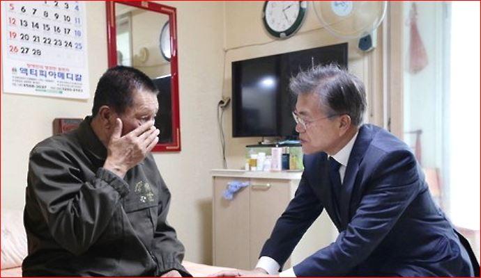 문재인 대통령과 김시진씨