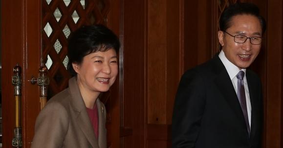 이명박·박근혜 전 대통령. 서울신문 DB