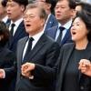 [포토] 노무현 전 대통령 추도식에 울려 퍼진 '님을 위한 행진곡'