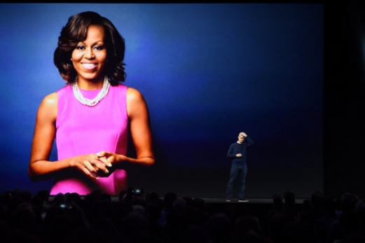 WWDC 2017에 참석해 사회적 메시지를 전달할 예정인 미셸 오바마  사진=AFP 연합뉴스