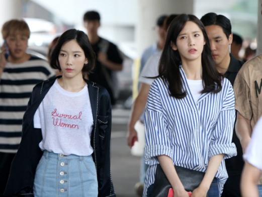 제주 도착한 소녀시대 태연?윤아
