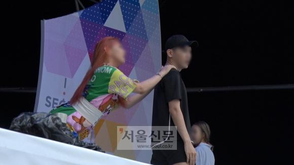 '퀴어축제' 환영 무대. 김형우 기자 hwkim@seoul.co.kr