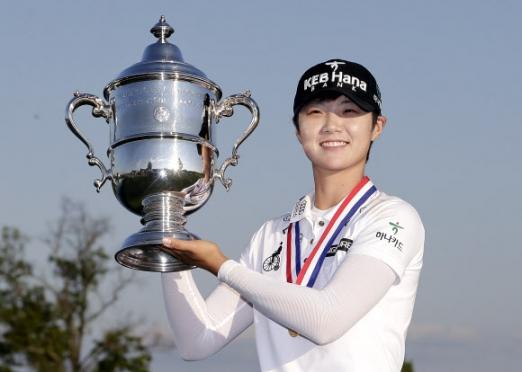 트로피 든 박성현…US여자오픈서 데뷔 첫 우승