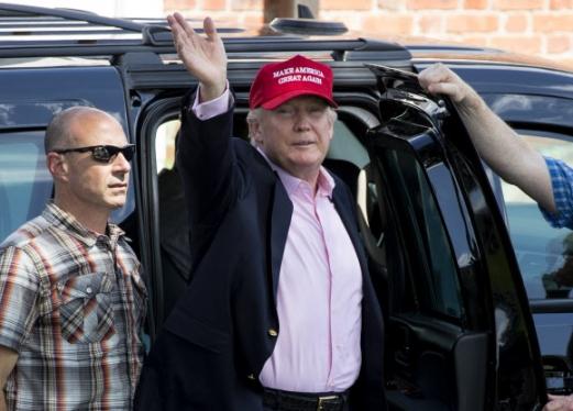 트럼프, US여자오픈 골프대회 방문