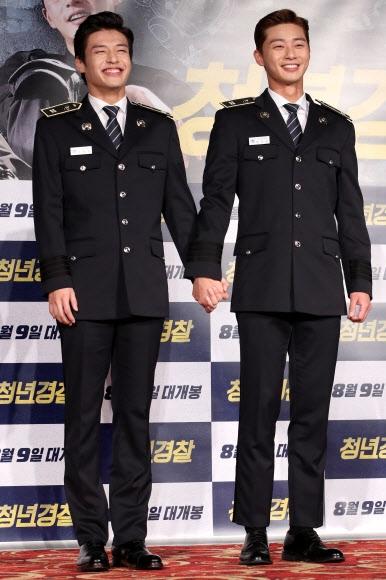 경찰제복이 잘 어울리는 강하늘-박서준