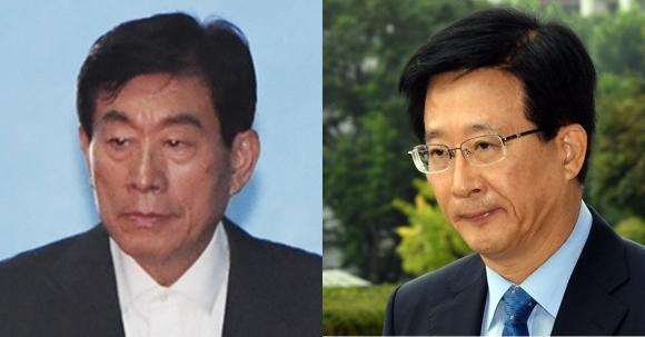 원세훈 전 국정원장과 민병주 전 국정원 심리전단장. 서울신문