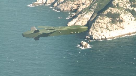 타우루스 미사일이 자체 항법으로 고속 순항비행해 목표물로 향하고 있다. 공군 제공